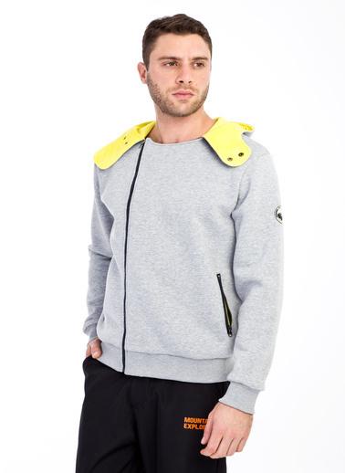 Kiğılı Sweatshirt Gri
